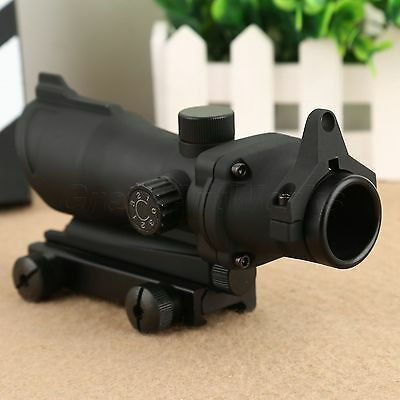 Tactical Rifle 1x32 Scope Sight Illuminated Red Green Dot Laser fit 20mm Mount