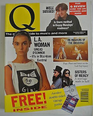Q Magazine. December, 1990. Sinead O'Connor. Sisters of Mercy. Happy Mondays.