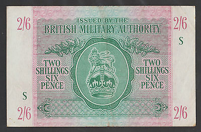 GREAT BRITAIN  2/6 Shillings ND 1943  XF+  WWII - BRITISH MILITARY AUTHORITY