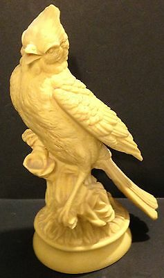 Cute Cream White Blue Jay Bird Figurine