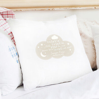 Personalised TWINKLE TWINKLE CUSHION COVER Baby Gift - Nursery Gift - Cover Only