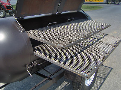BBQ PIT SMOKER competition GRILL trailer double racks barbecue concession cooker