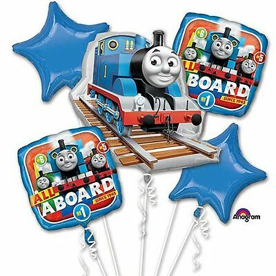 Thomas The Tank & Friends 5 Balloons Bouquet Birthday Party Decoration Supplies