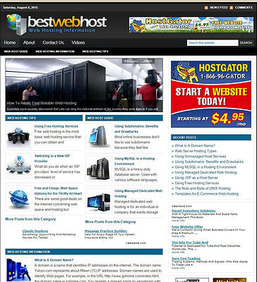 Webhosting Advice Website / Blog With Affiliates And New Domain & Hosting