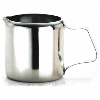 6 x Genware Stainless Steel Milk Jug 3oz 100ml Cafe Tearoom Restaurant F7G