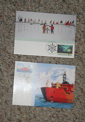 Australia Maxi Card set AUSTRALIAN ANTARCTIC TERRITORY set of 2 RSV Aurora 35th