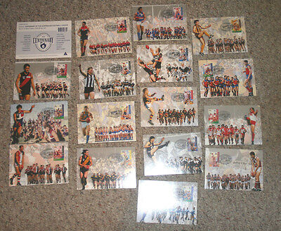 Australia Maxi Card CENTENARY AUSTRALIAN FOOTBALL LEAGUE 16 cds 1996