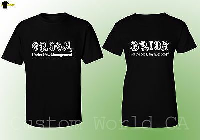 3d0e62e8 Groom and Bride Matching Shirts His and Hers Love Matching Couple Tshirts