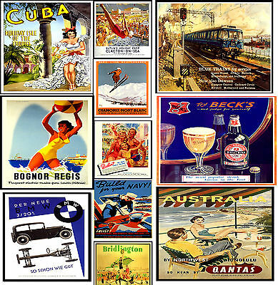 LAMINATED VINTAGE RETRO TRAVEL & RAILWAYS A4 Posters Nostalgic Home Art Print