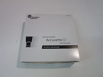 Beckman Coulter Accuvette ST 25 x 25 mL Vials and Caps