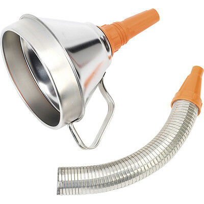 Sealey Funnel Metal With Flexi Spout & Filter 160mm