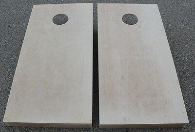 """CORNHOLE BOARDS BEANBAG TOSS GAME SET w """"pick your colors"""" bags UNFINISHED 3/4''"""