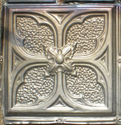 SALE Antique Victorian Ceiling Tin Tile Gothic Quatrefoil Flower Shabby Chic