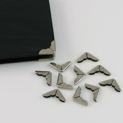 50 Pcs14mm Note Book File Folder Albums Corner Protectors Silver Scrapbooking