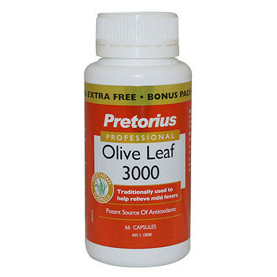 Pretorius Olive Leaf 3000 66's - Assists with immunity and heart health