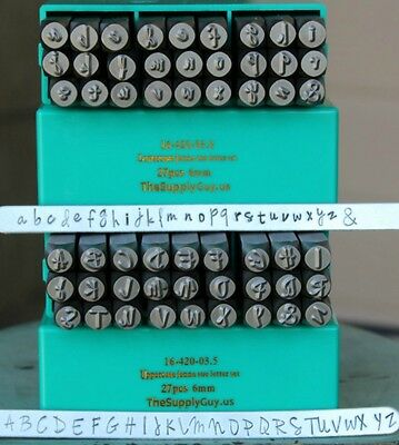SUPPLY GUY 6mm Jenna Sue Font Metal Stamp Letter Set