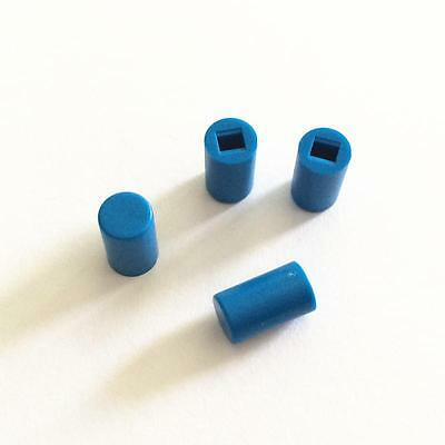 50PCS A04 Switches 6*10mm Round Switch Cap Push Button Blue