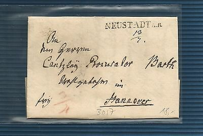 "Hannover / NEUSTADT A. R. L1 + hs. Dat. ""13/7"" 1831 a. Kabinett-Brief"