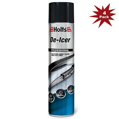 Holts De-Icer Spray Can - 4x600ml = 4pk