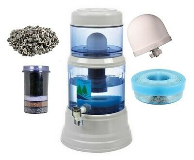 EVA Water Gravity Filter Spare Parts, Ceramic Dome, Cartridge, Mineral Tray.