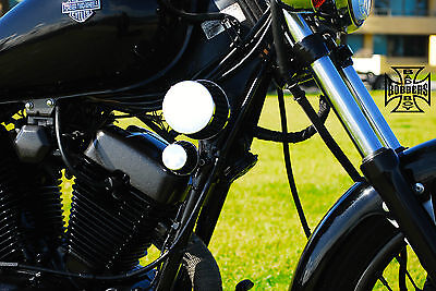 Yamaha Virago Xv250 Bobber Air Filter Intake Kit 2 Filters Black & Chrome Xv 250
