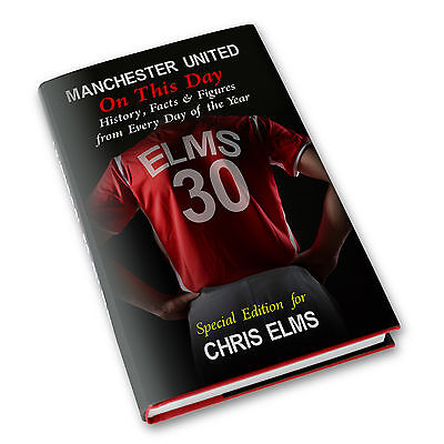 Personalised Manchester Man United FC On This Day History Book Gift P0512P45
