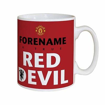 Personalised Manchester Man United FC Red Devil Mug Gift Idea Birthday Xmas