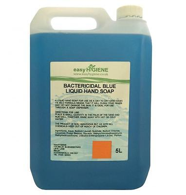 BLUE 5L Antibacterial Bactericidal Liquid Antibac Luxury Hand Soap 5 Litre