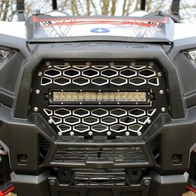14-16 Polaris RZR 1000 XP ModQuad Black /& Red Front Grill w//Light Bar Opening