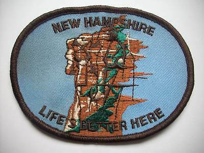 New Hampshire Life's better here TRAVEL EMBROIDERED SOUVENIR PATCH