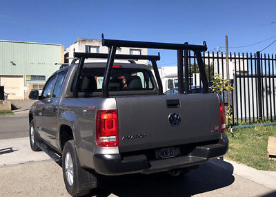 Universal Aluminum Alloy 3' Ladder Rack For Ute Tub Silver/black