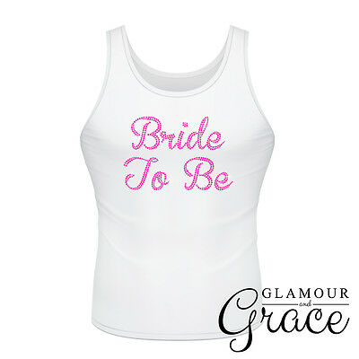 BRIDE TO BE singlet Bridal Wedding Hens Night Party T-Shirt Top Bridesmaid
