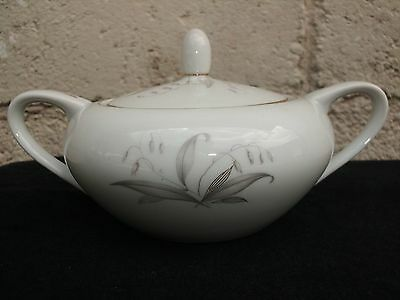 Kaysons Golden Rhapsody Fine China Of Japan Sugar Bowl With Lid 1961
