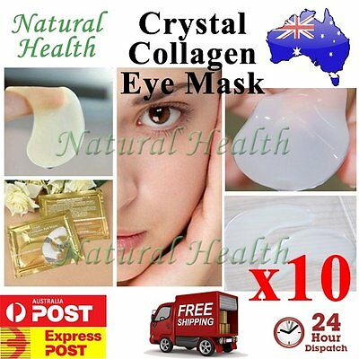 10 Pairs Pilaten Crystal Collagen Eye Pad Patch Mask Anti Dark Circle Wrinkle