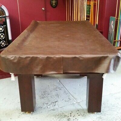 Heavy Duty FITTED Pool Snooker Billiards TABLE COVER - 8' - BROWN
