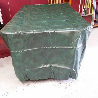 Full Length Heavy Duty FITTED Pool Snooker Billiards TABLE COVER - 8' - GREEN