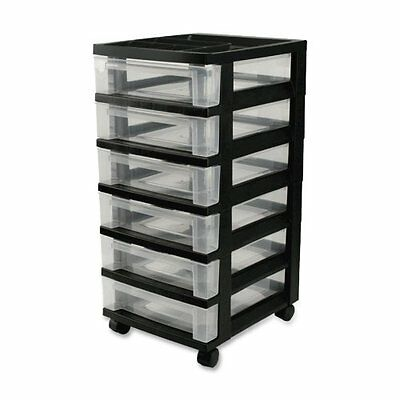 NEW 6-Drawer Organizer Hobby Rolling Cart - For Crafts Scrapbook Supplies