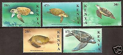 KENYA 2000 TURTLES Set 5v MNH
