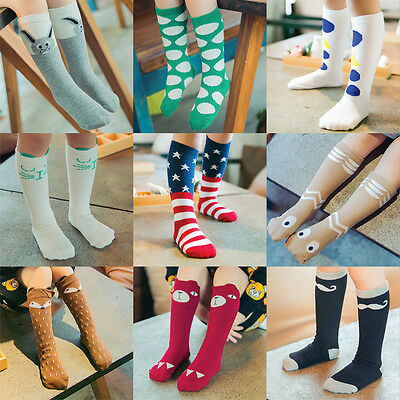Toddlers Children Kids Girls Cartoon Soft Cotton Socks Hosiery For Age 0-6 Years