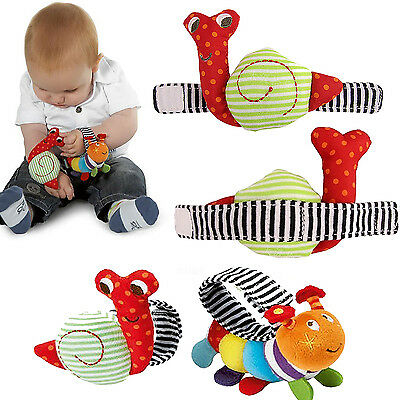 Be Baby Kid Lovely Wrist Infant Development Soft Cartoon Toys Hand Cuff Rattles