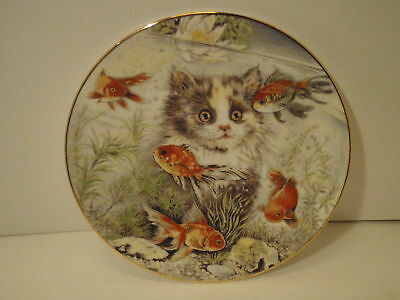 Royal Worcester FISHFUL THINKING by Pam Cooper Plate NI
