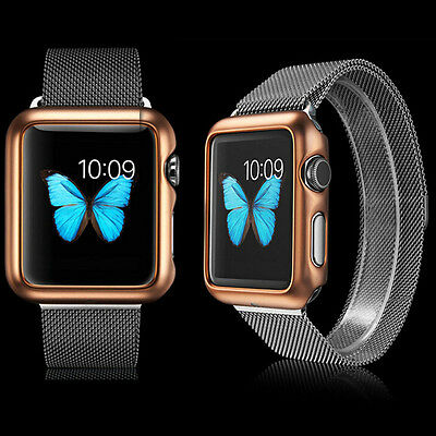 Luxury Shiny Series Plating PC Snap On Case Cover For Apple Watch iWatch 38MM