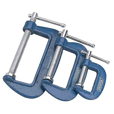 Draper 3 Piece C Clamp Set, G Clamp, 25/50/75mm Clamps (36779)