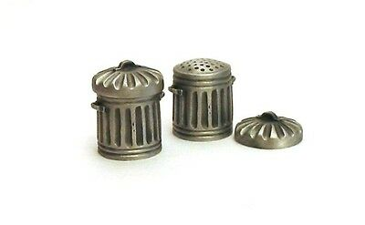 Dust Bin Trash Can Pewter Thimble Made In England NEW Collectible Thimble Gift