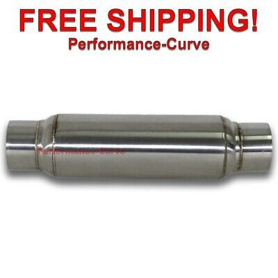 Exhaust Muffler / Resonator - 304 Stainless Steel - 3""