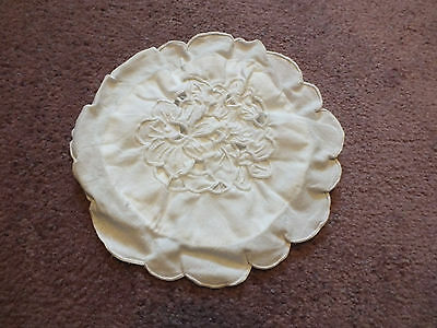 Collectible Opennwork Lace Pot Holder Pocket Cover 6 1/2 Inch White NICE