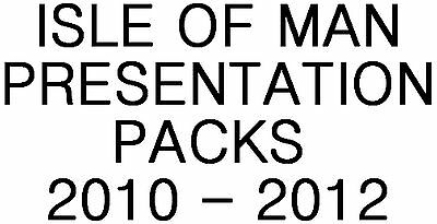 Isle of Man Manx Presentation Packs 2010 - 2012