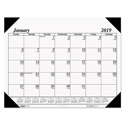 Year 2017 Desk Pad Academic Calendar Large Chipboard Monthly Daily Office NEW