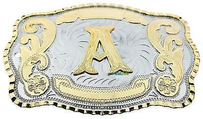 Initial Letter A Western Extra Large Rodeo Cowboy Belt Buckle