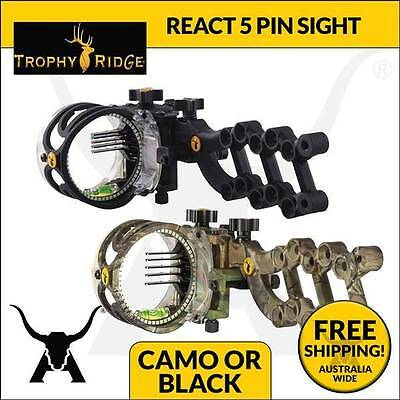 New Trophy Ridge React - 5 Pin Compound Bow Sight Archery Hunting